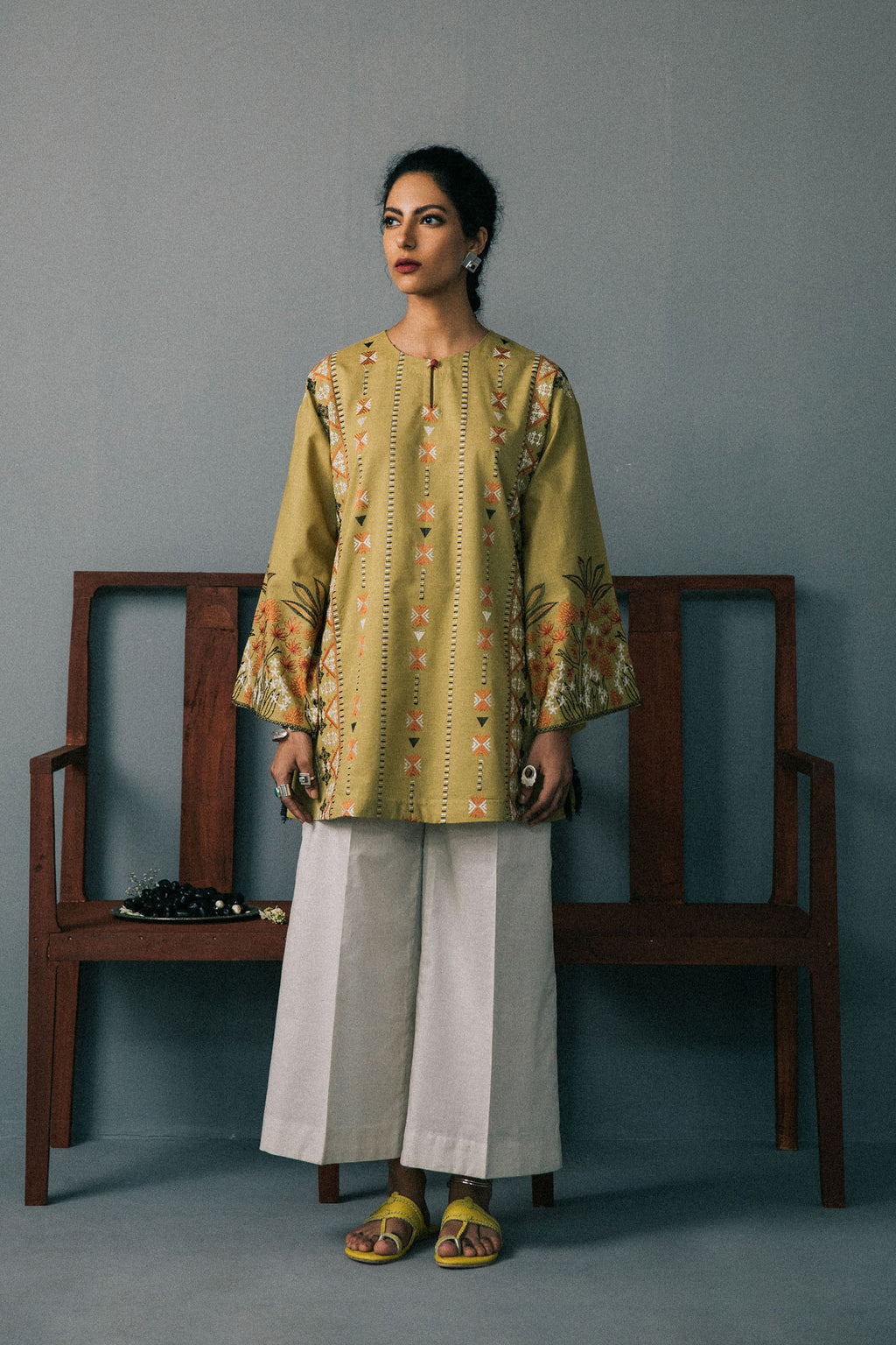 Rozana Shirt (WTR201063) - Ethnic by Outfitters