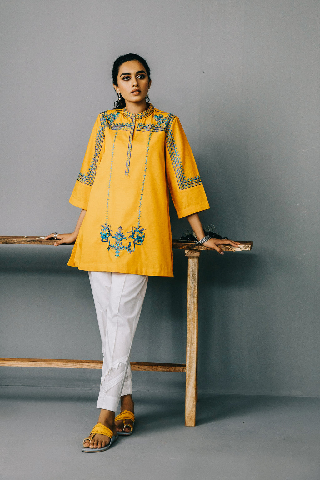 Rozana Shirt (WTR201075) - Ethnic by Outfitters