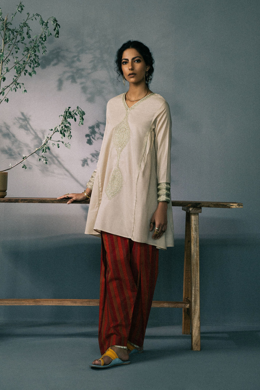 Rozana Suit  (WTR201325) - Ethnic by Outfitters