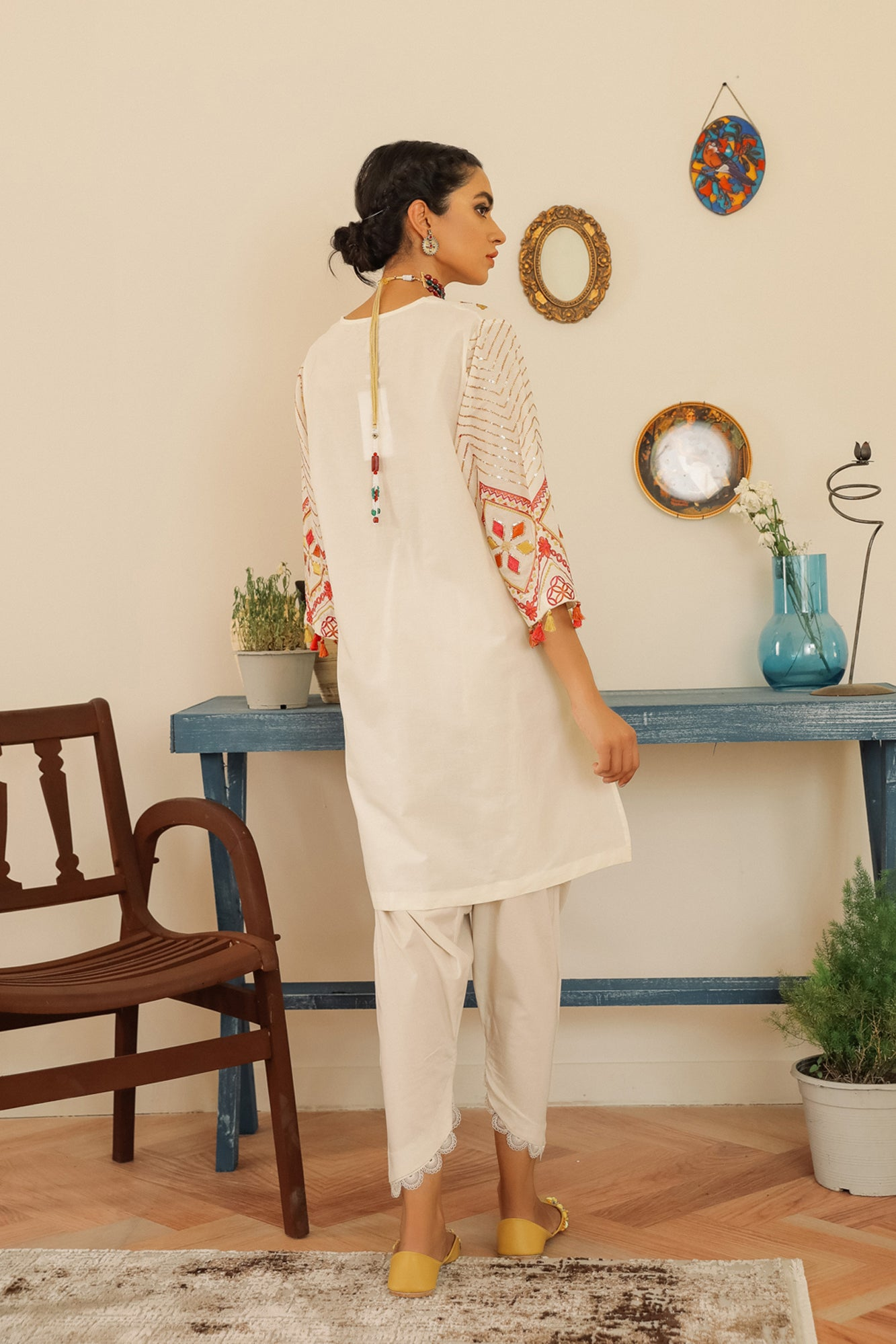 EMBROIDERED SHIRT (WTR211271) - Ethnic by Outfitters