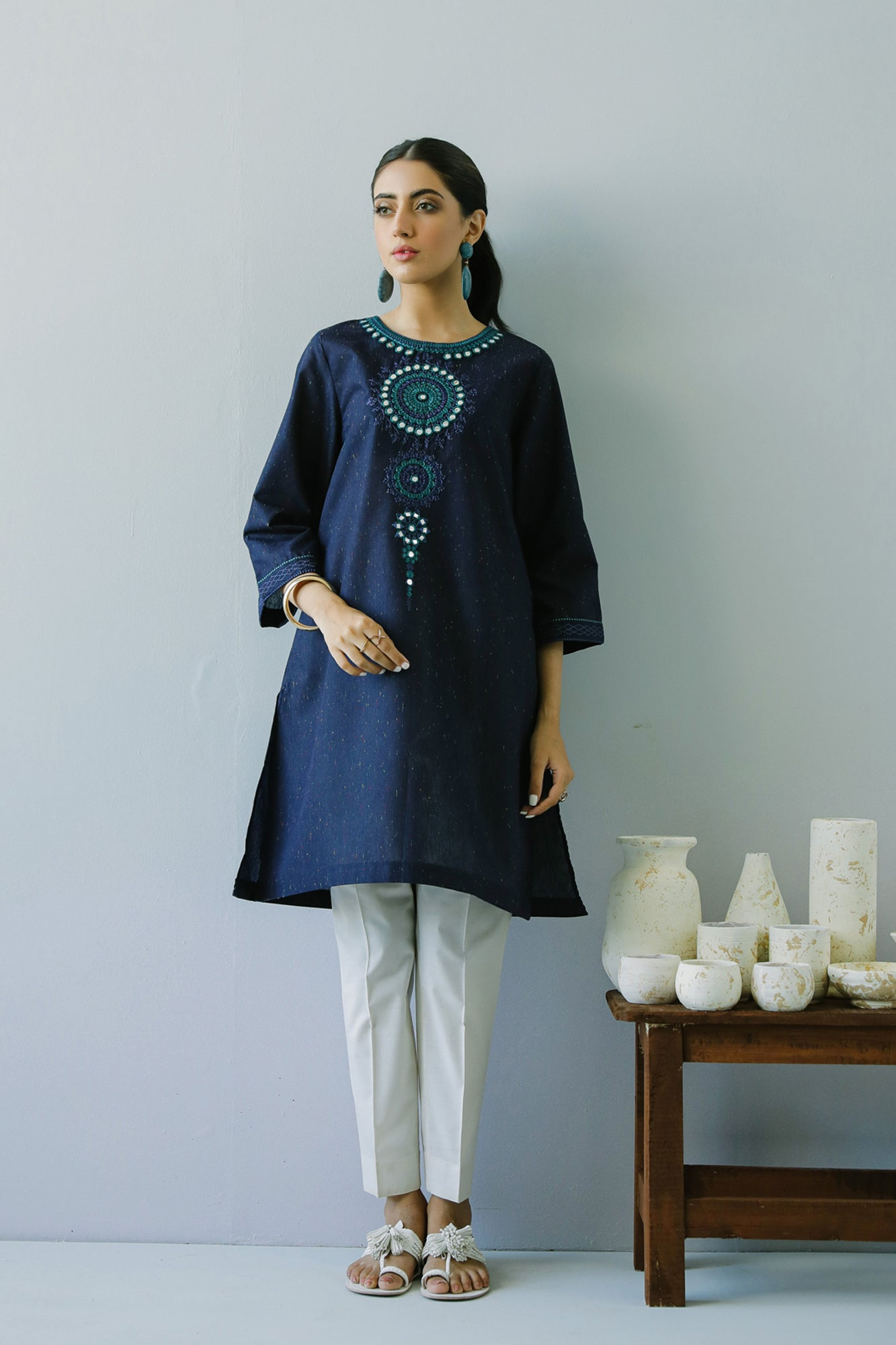 EMBROIDERED SHIRT (WTR211282) - Ethnic by Outfitters