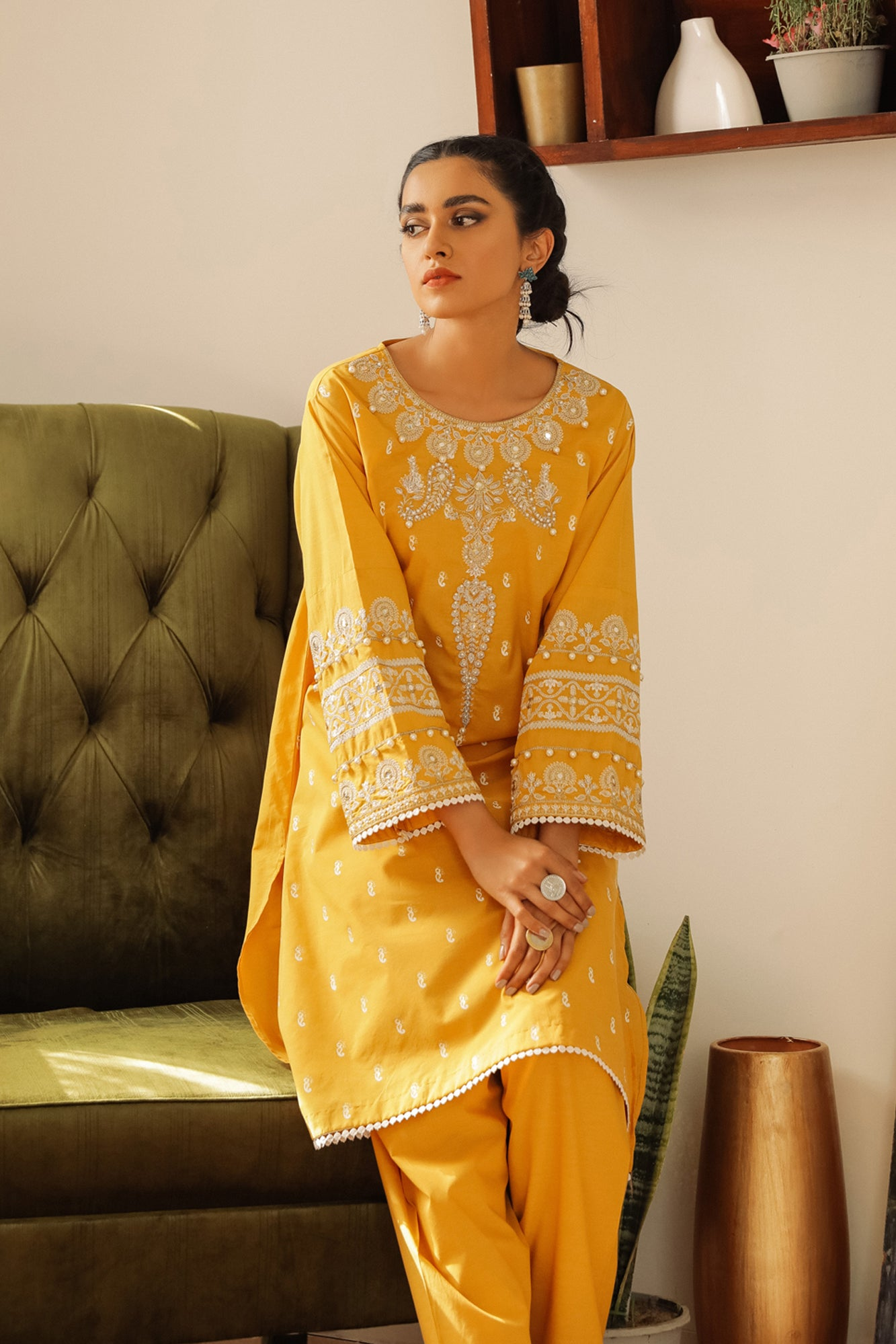 EMBROIDERED SUIT (WTR211322) - Ethnic by Outfitters