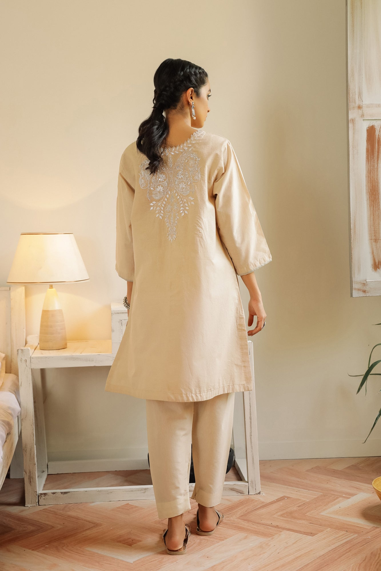 EMBROIDERED SUIT (WTR211332) - Ethnic by Outfitters