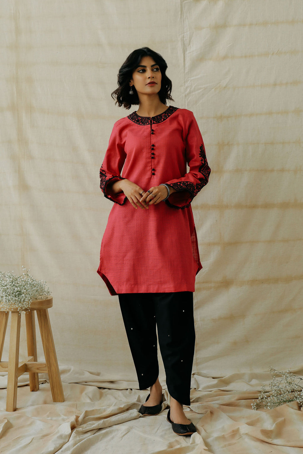 EMBROIDERED SHIRT (WTR401310) - Ethnic by Outfitters