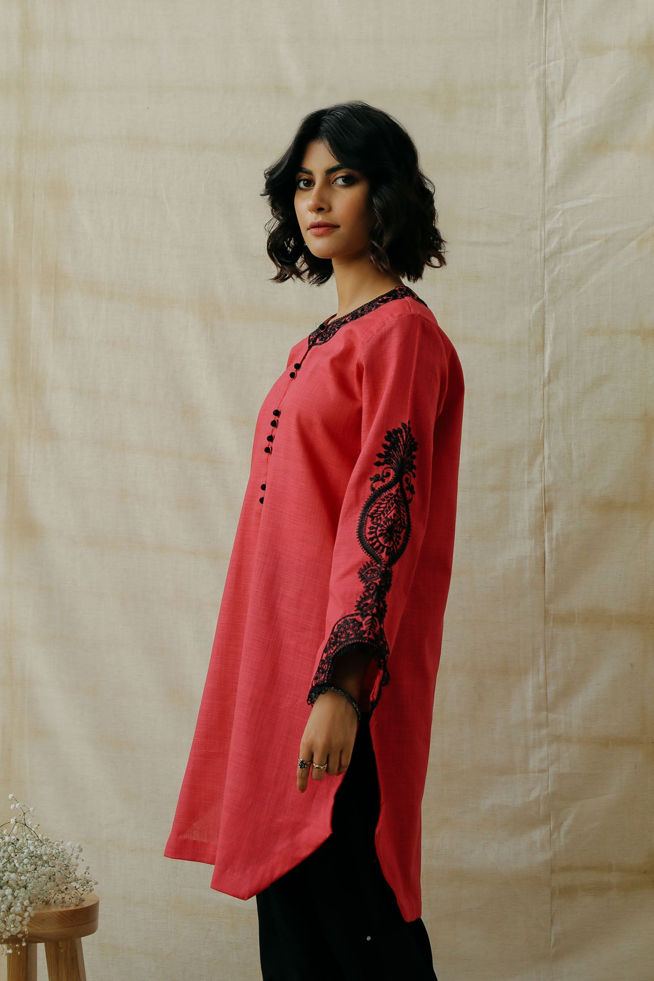 EMBROIDERED SHIRT (WTR401310)