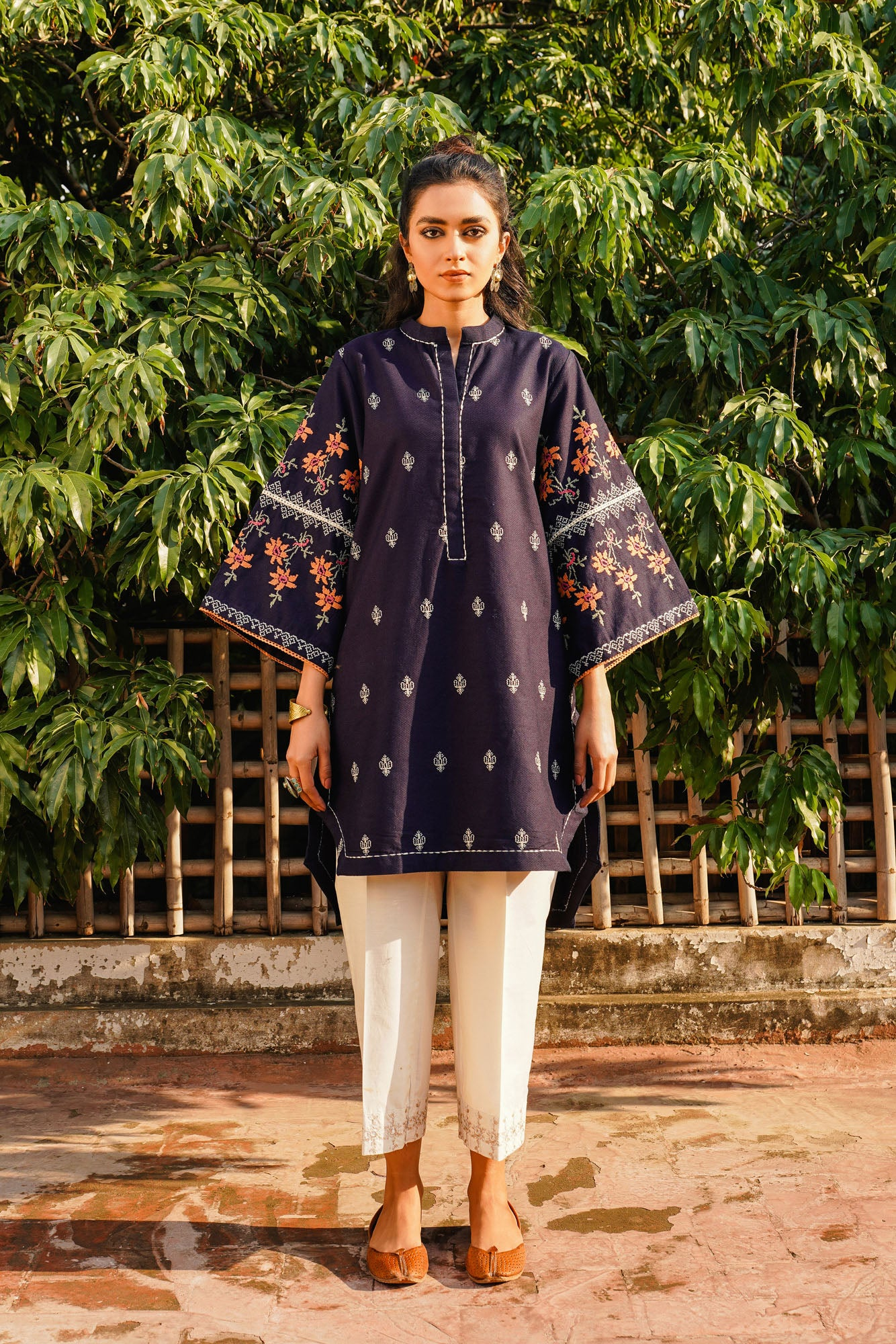 EMBROIDERED SHIRT (WTR401321) - Ethnic by Outfitters