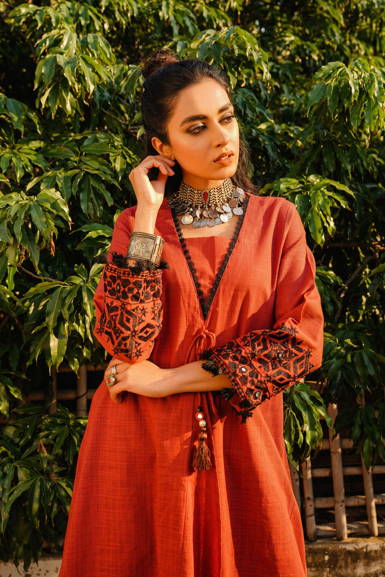 EMBROIDERED SHIRT (WTR401328) - Ethnic by Outfitters