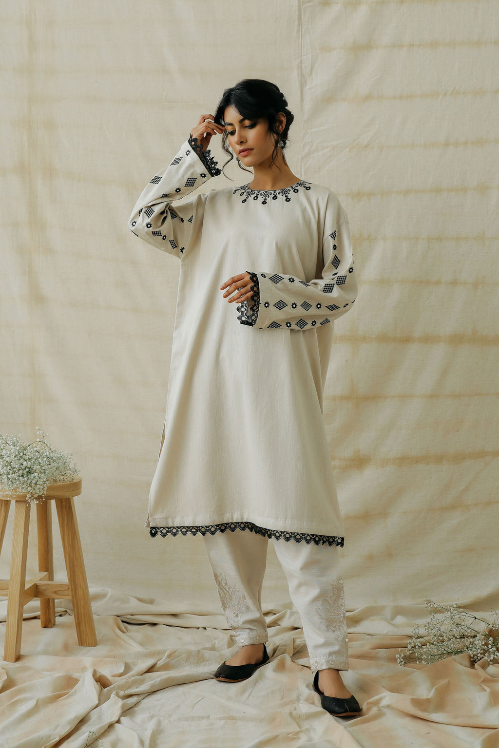 EMBROIDERED SHIRT (WTR401329) - Ethnic by Outfitters
