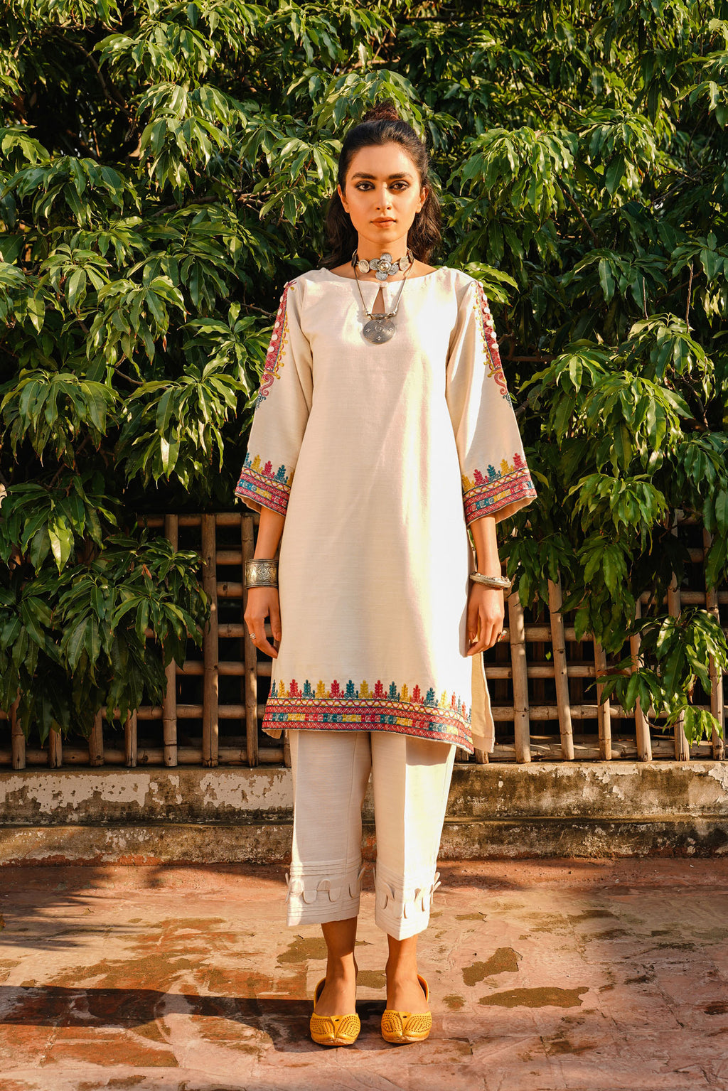 EMBROIDERED SHIRT (WTR401332) - Ethnic by Outfitters