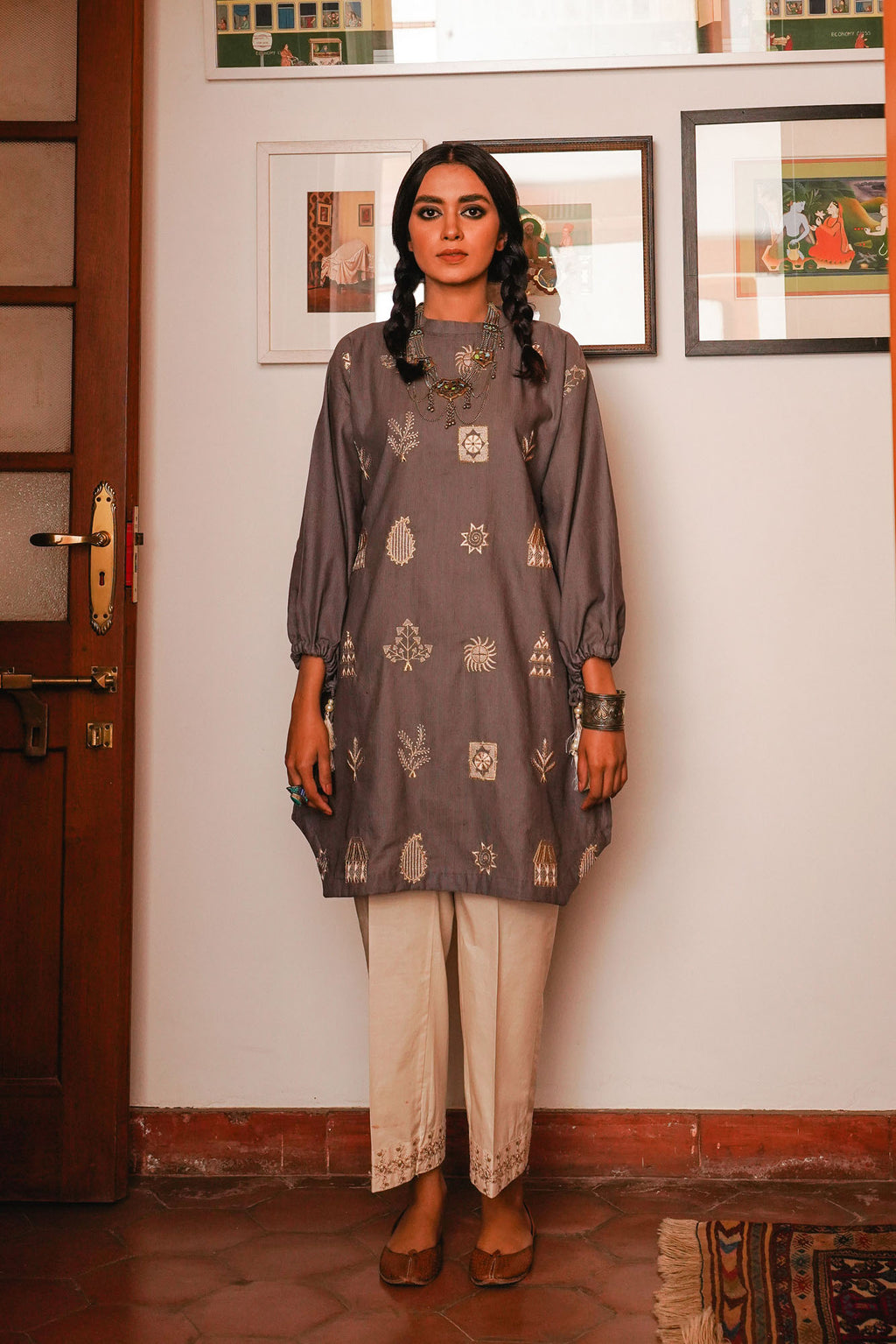 EMBROIDERED SHIRT (WTR401338) - Ethnic by Outfitters