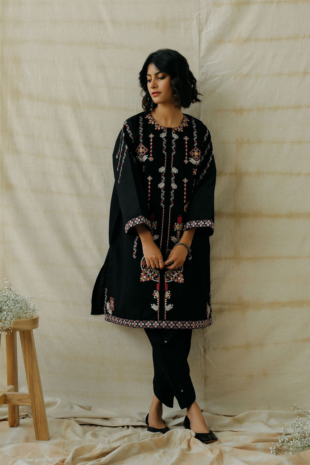 EMBROIDERED SHIRT (WTR401340) - Ethnic by Outfitters