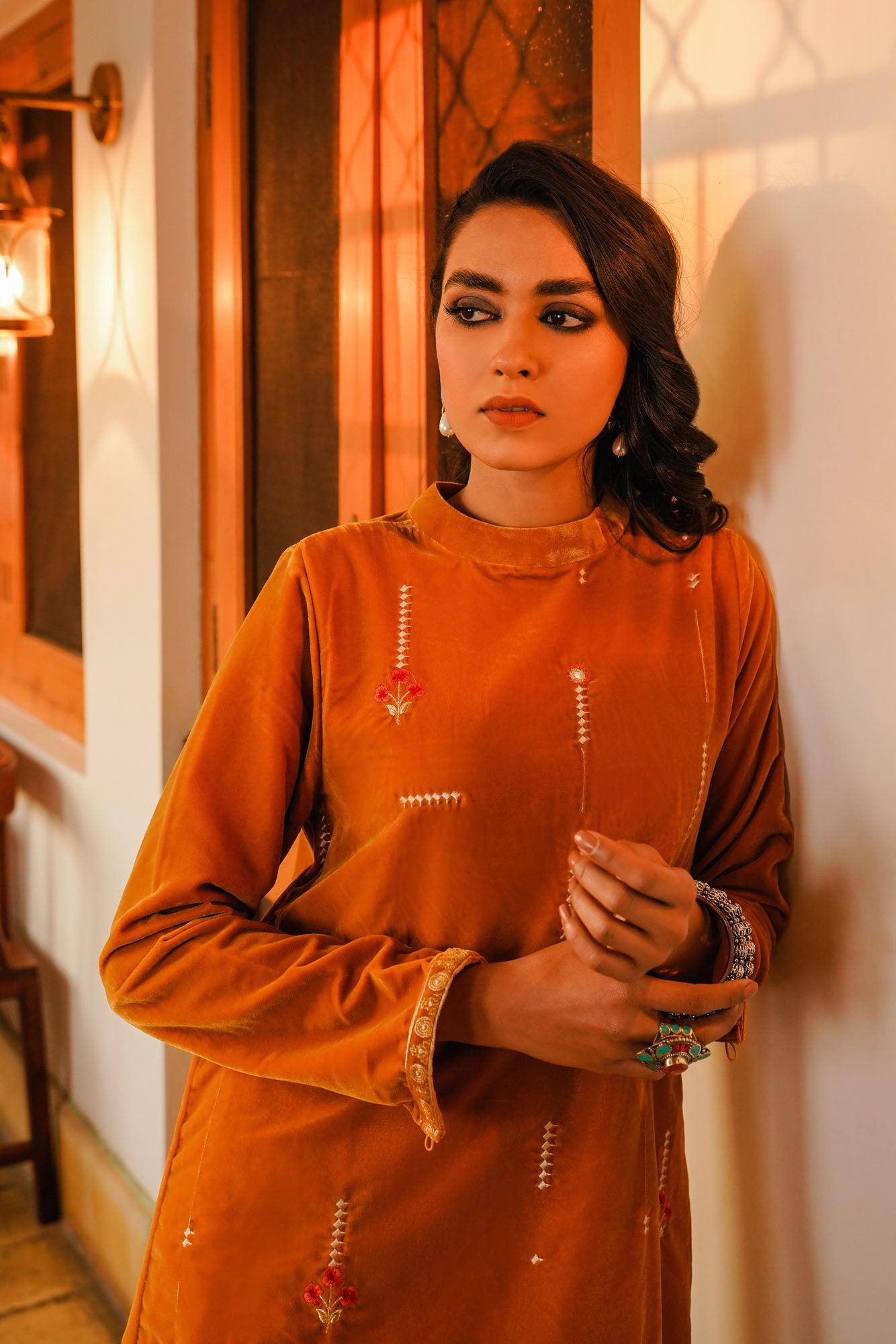 EMBROIDERED SHIRT (WTR401347) - Ethnic by Outfitters