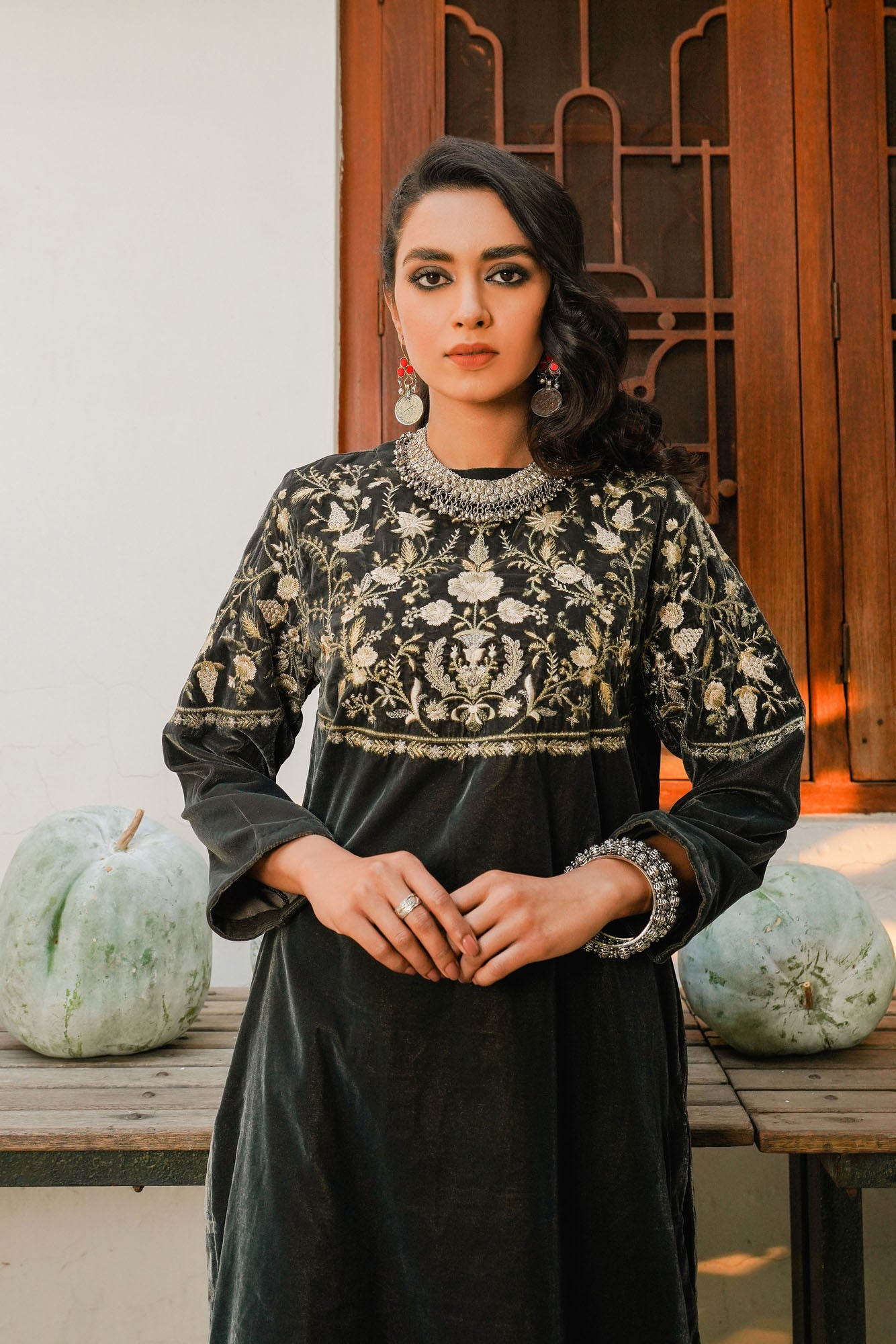 EMBROIDERED SHIRT (WTR401348) - Ethnic by Outfitters