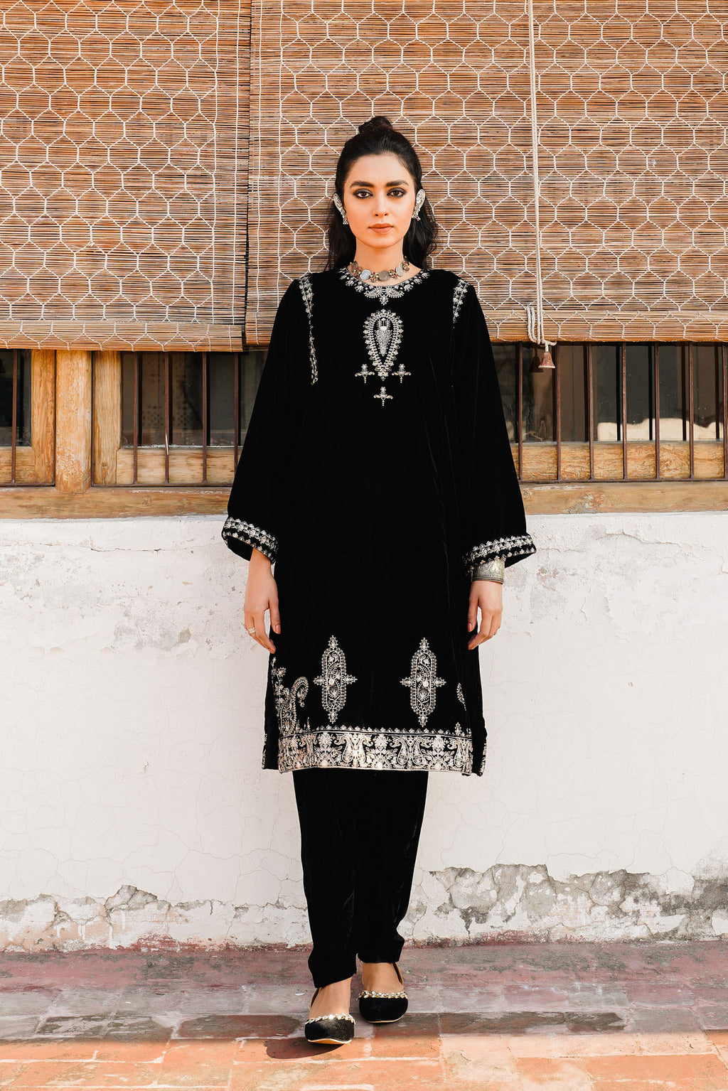 EMBROIDERED SHIRT (WTR401350) - Ethnic by Outfitters