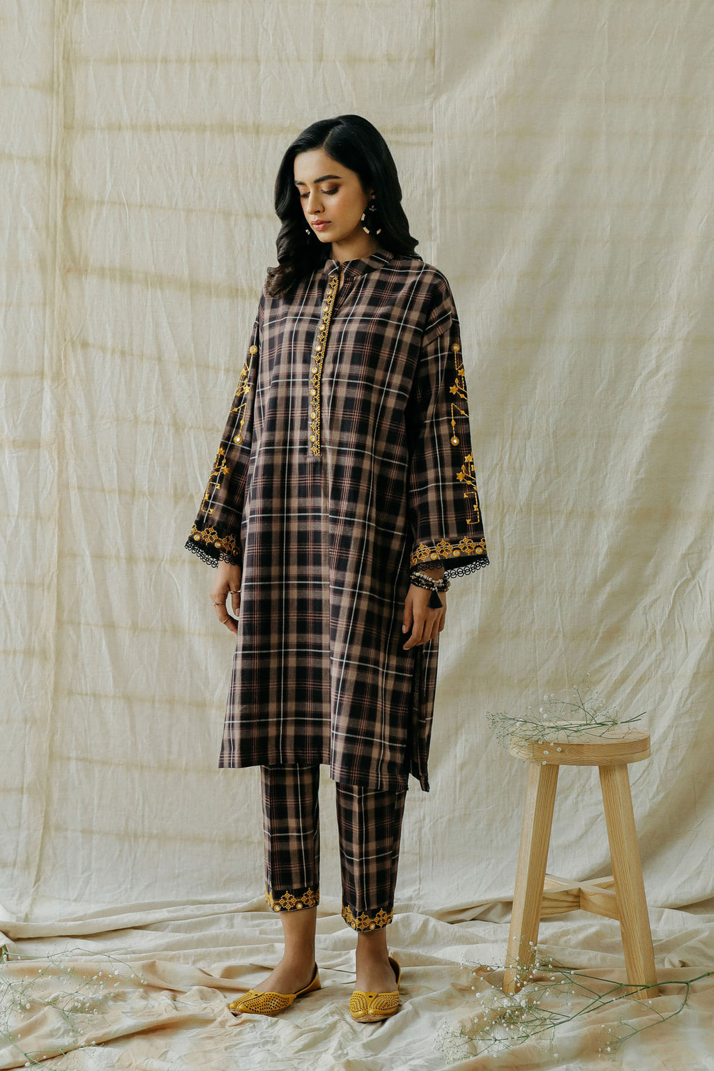 ROZANA SUIT (WTR401351) - Ethnic by Outfitters