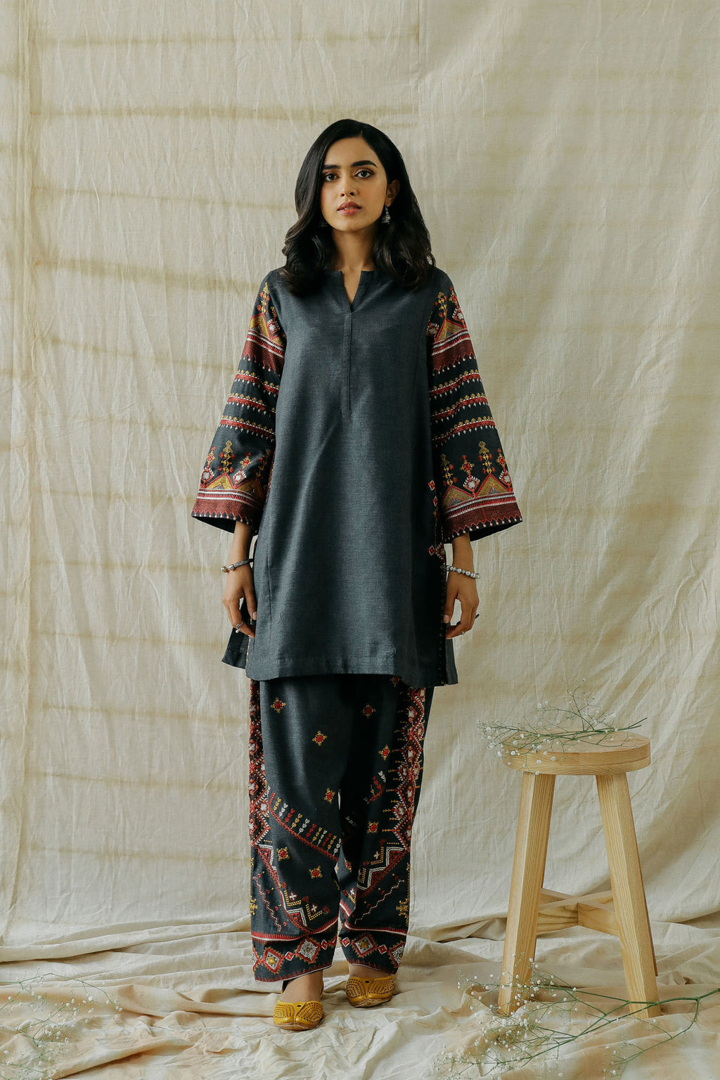 ROZANA SUIT (WTR401356) - Ethnic by Outfitters
