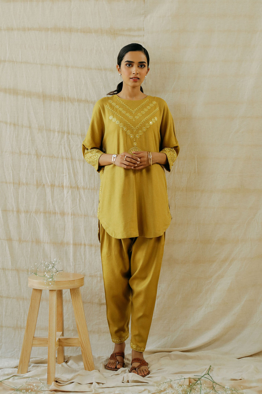 ROZANA SUIT  (WTR401357) - Ethnic by Outfitters