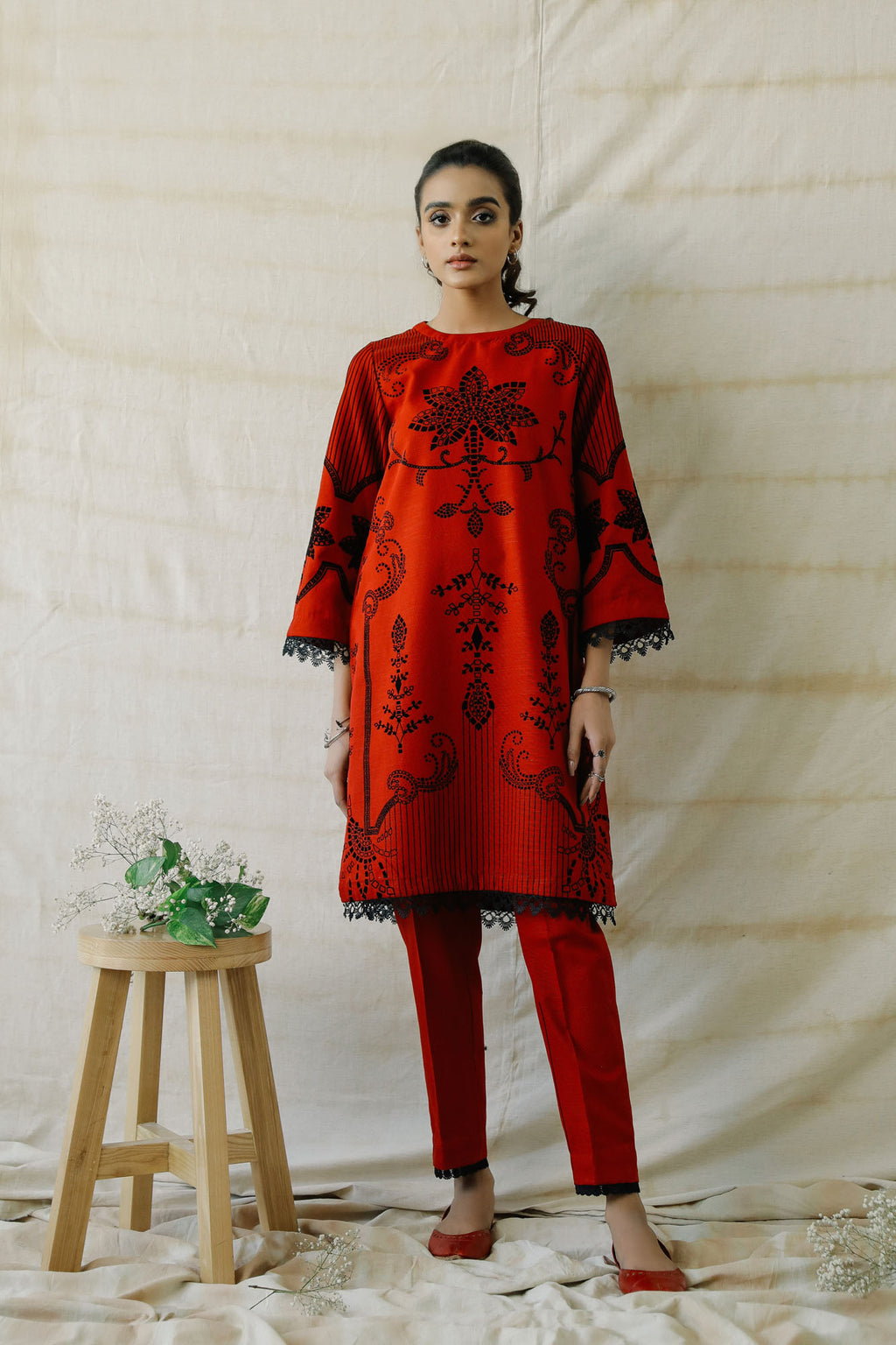 EMBROIDERED SUIT (WTR401360) - Ethnic by Outfitters