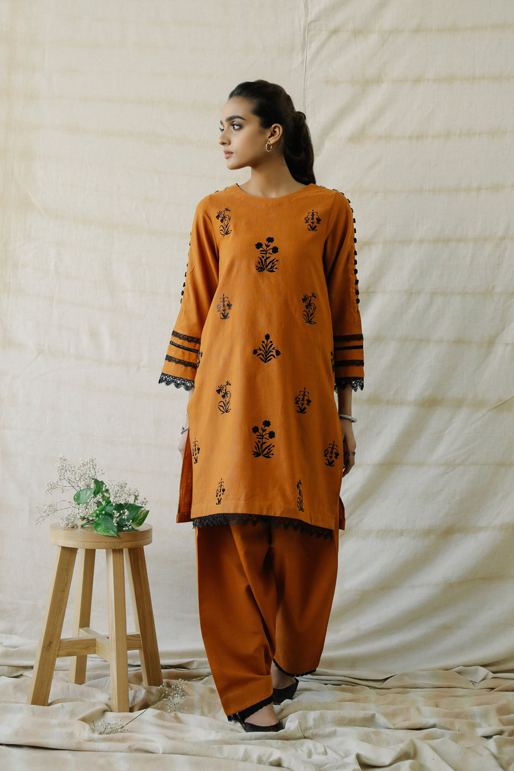 PRINTED SUIT (WTR401362) - Ethnic by Outfitters