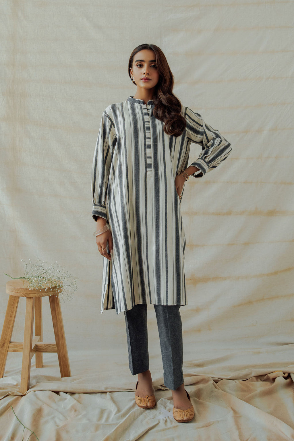 ROZANA SUIT (WTR401413) - Ethnic by Outfitters