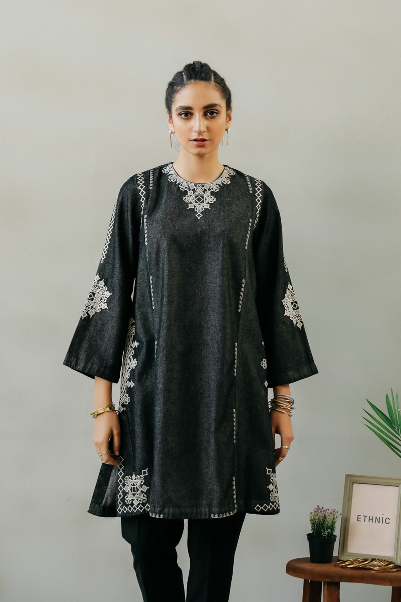 EMBROIDERED SHIRT (WTR401933) - Ethnic by Outfitters