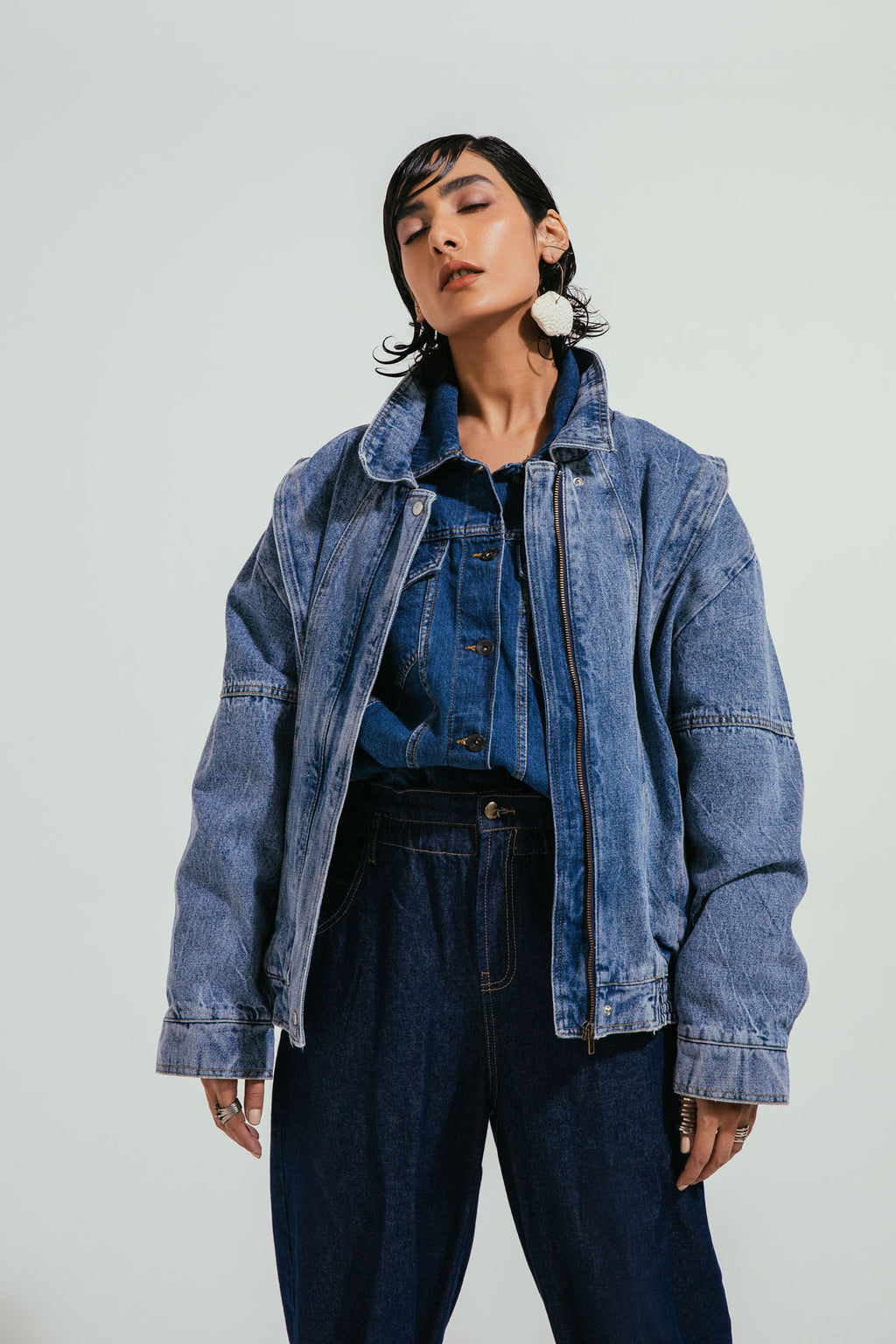 80's - INSPIRED DENIM JACKET (WTW401755) - Ethnic by Outfitters