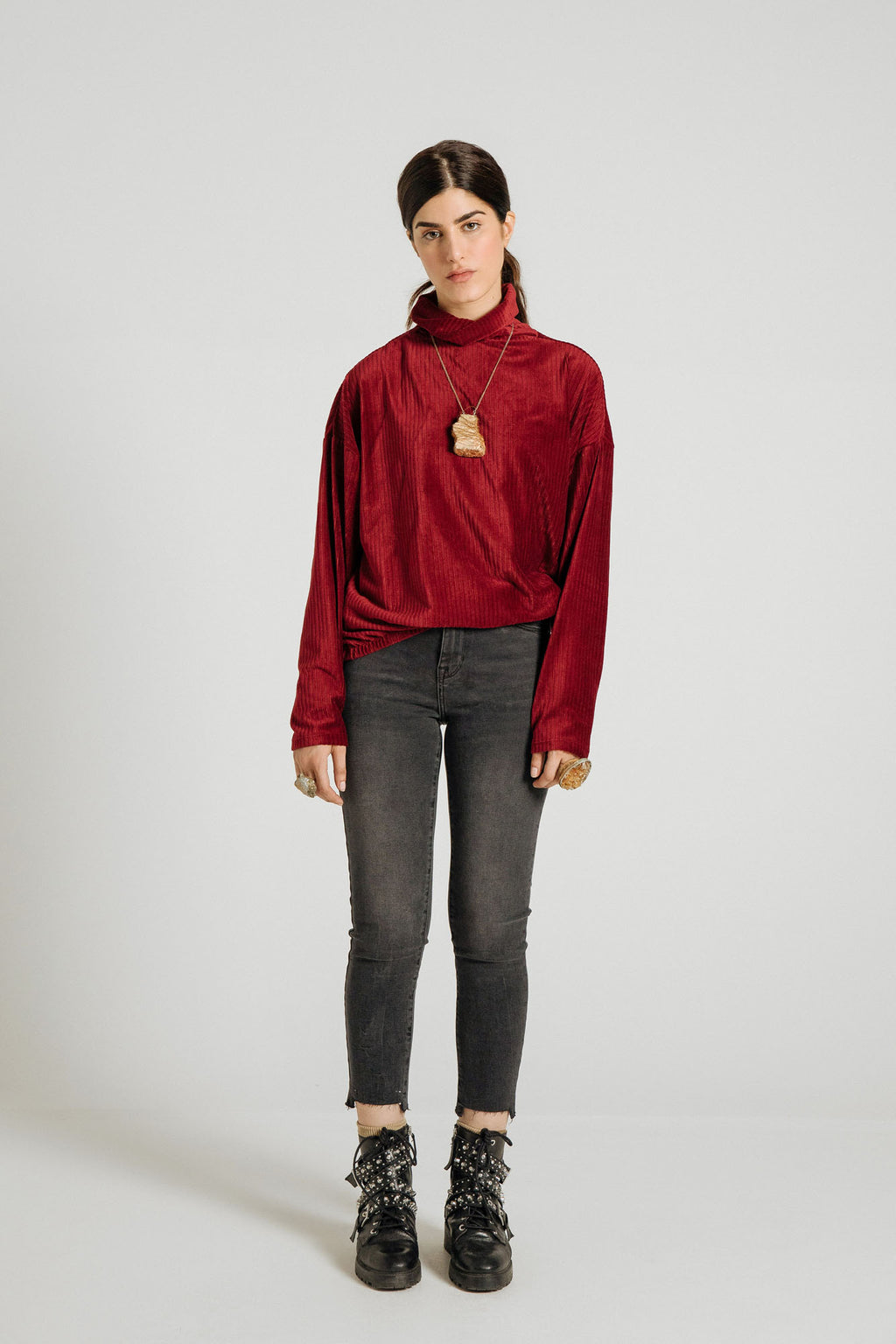 VELVET SWEATSHIRT (WTW401779) - Ethnic by Outfitters