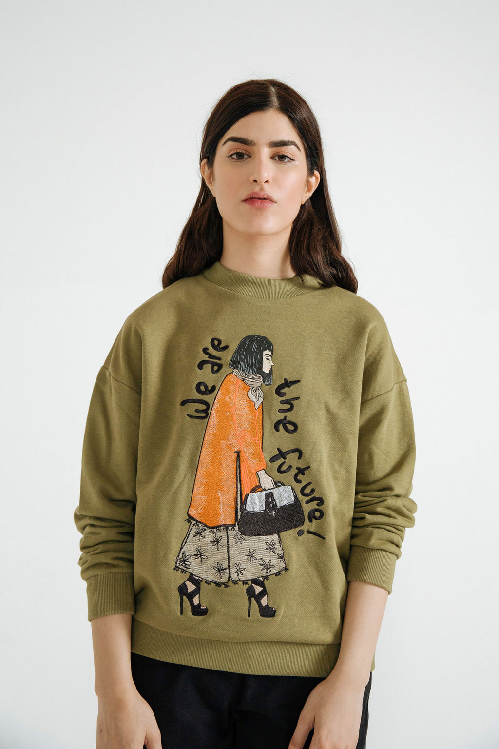 KNIT TERRY SWEATSHIRT (WTW401784) - Ethnic by Outfitters