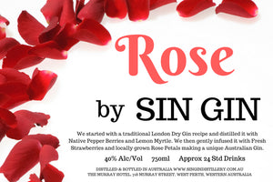 Rose by Sin Gin, limited release