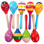 Large Wooden Toy Maracas  (1 Piece )