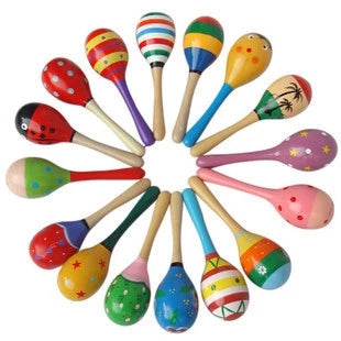 Small Wooden Toy Maracas