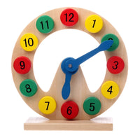 Wooden Educational Clock  with Stand