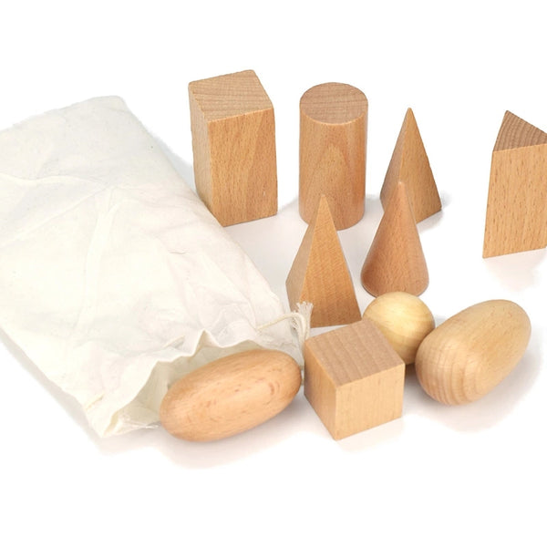 Montessori Wooden Geometry Blocks