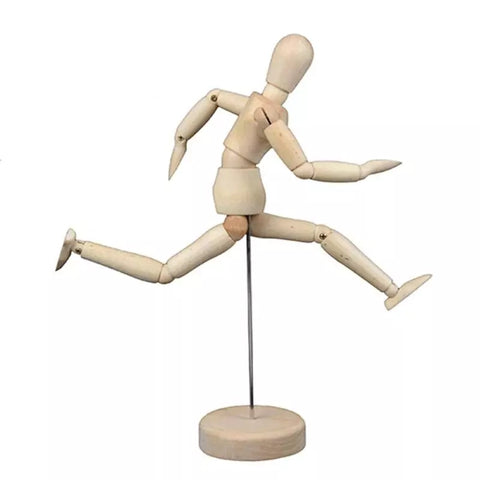 Wooden Mannequin Puppet 8 Inches with Stand