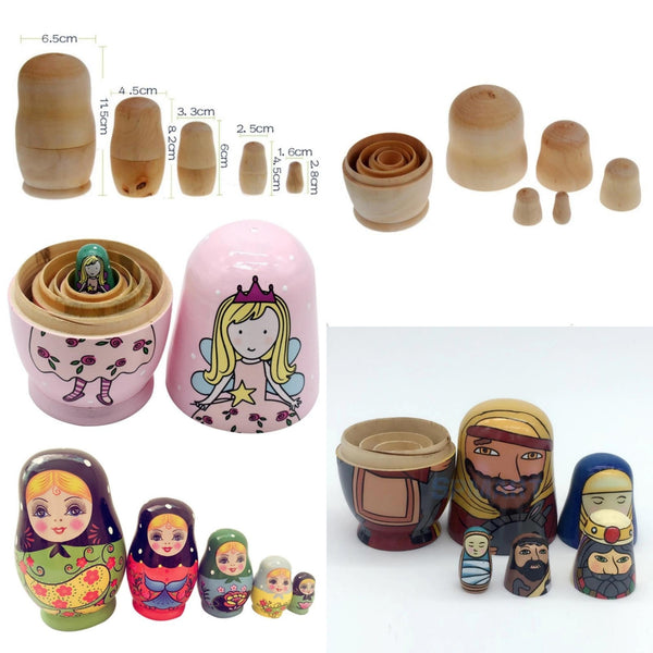 Unpainted D.I.Y. Wooden Nesting Dolls