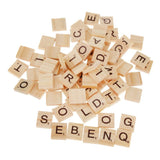 Upper and Lower Case Wooden Letter Tiles ( 200 pcs in all)  in Canvas Cloth Pouch