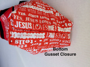 A Child or Adult Small Jesus Loves Me - Gusset