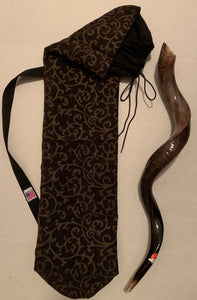 Scrolls in Gold             Shofar/Flag Bag