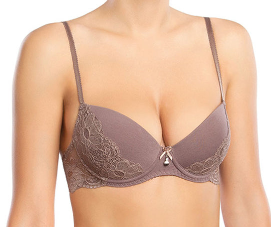 Cotton Cinnamon Push Up Bra
