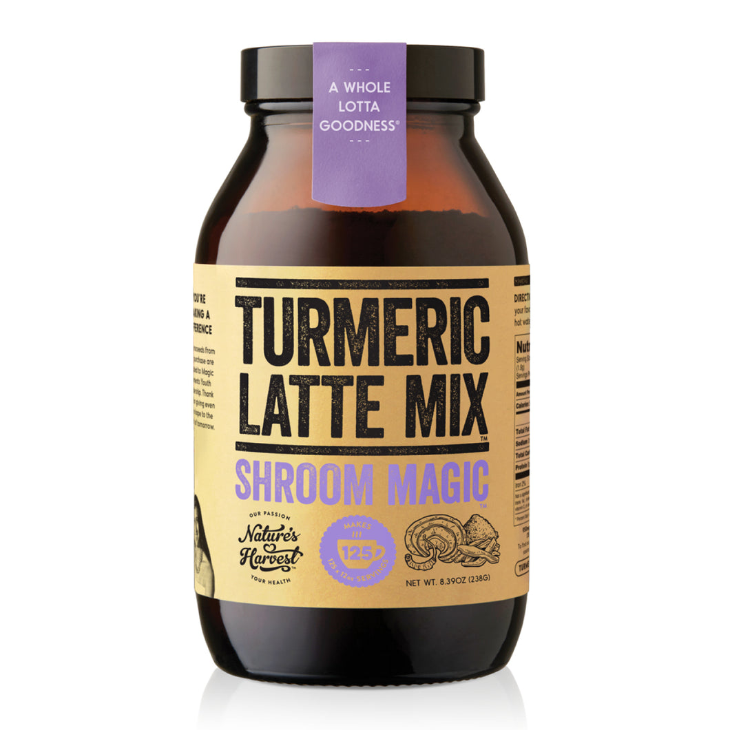 Turmeric Latte Mix SHROOM MAGIC™ 125 Serves 238g Glass Jar - COMING SOON