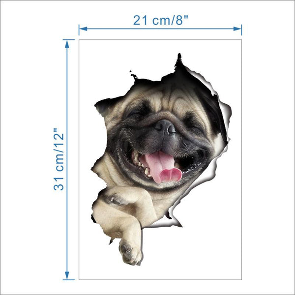 3D Animal Dog Puppy Multipurpose Sticker - Fashion and Style777