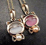 Lucky Kitty Cat Pendant Jewelry - Fashion and Style777