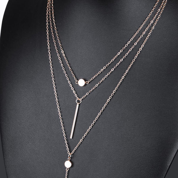Stylish Layered Charm Bar Statement Necklace Free + Just Pay Shipping - Fashion and Style777