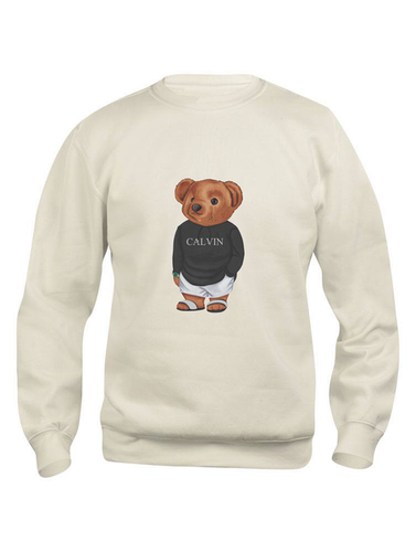 Calvin The Bear -  Creme Jilly sweater