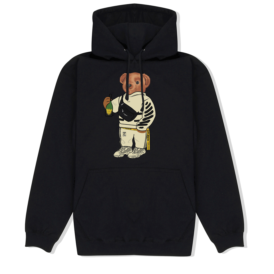 Cally The Bear - OFF BLACK HOODIE