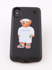Calvin The Bear - Phone Case charger Iphone X