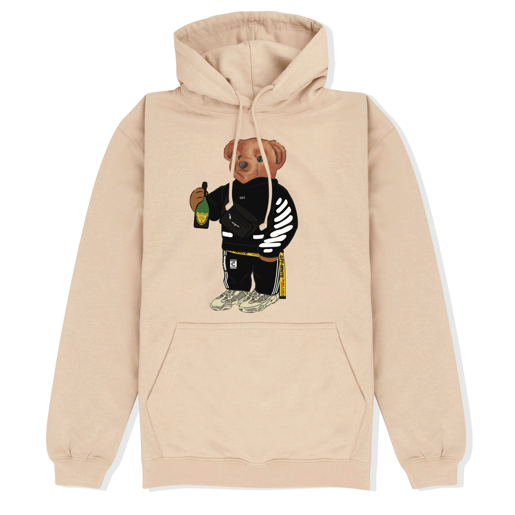Cally The Bear - OFF CREME HOODIE