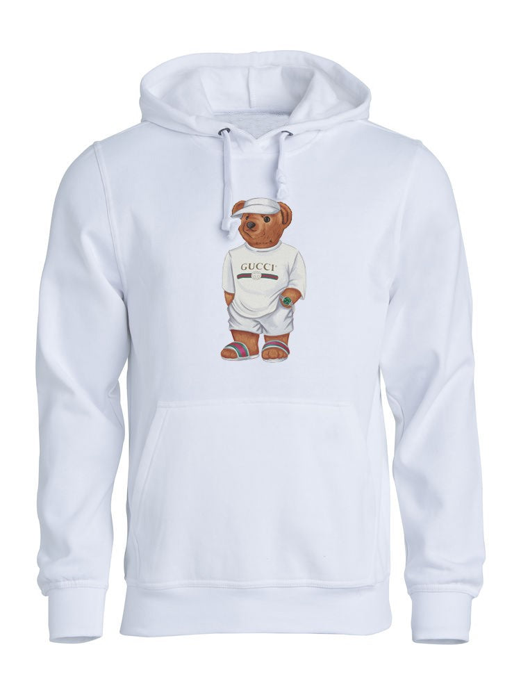 Cally the Bear - White Jilly Hoodie