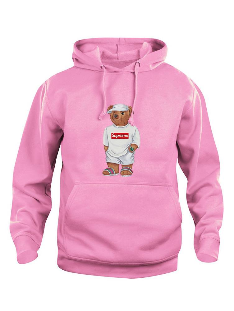 Cally The Bear - Pink supreme hoodie