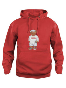 Cally The Bear - Supreme Red Hoodie